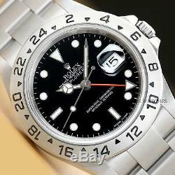 2006 Mens Rolex 16570 Explorer II Gmt Z Serial Stainless Steel 40mm Watch