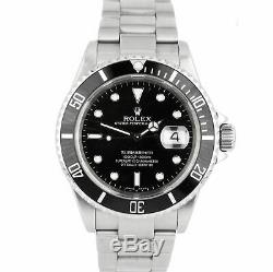 2006 Rolex Submariner Date 16610 T Stainless Dive SEL NO-HOLES Pre-Ceramic Watch