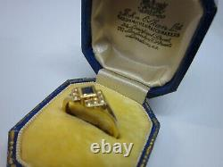 A Lovely Vintage Ladies 9ct Sapphire & Diamond Art Deco Style Ring Size M, 2.3g