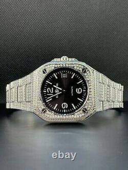 Bell & Ross BR 05 Automatic 40mm Men's Black Dial Watch ICED OUT 13ct DIAMONDS