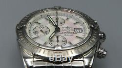 Breitling Chronomat Evolution White MOP Dial Watch with Box & Papers (A13356)