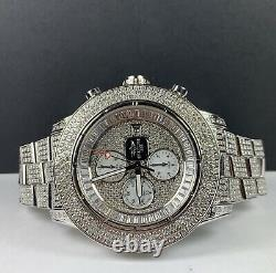 Breitling Super Avenger 48mm 15ct Fully Iced Out with Diamonds Mens Watch A13370