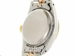 Ladies Rolex 2Tone Gold/Stainless Steel Oyster Perpetual Watch Silver 67193