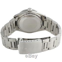 Men Rolex 36mm DateJust Diamond Watch Oyster Steel Band Silver Roman Dial 1.9 CT