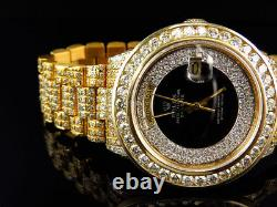 Mens 36MM Rolex President 18038 18k Yellow Gold Day-Date with 18.65 Ct Diamond