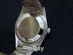 Mens Rolex Date Stainless Steel Watch Silver Dial Oyster Bracelet Quickset 15000