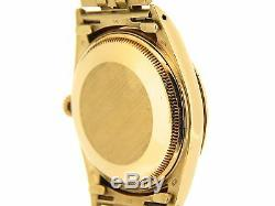 Mens Rolex Solid Yellow Gold Date Gold Stick 15037