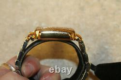 Michele Deco Diamond Two-Tone Chrongraph Watch 71-6000 Pre-owned FREE SHIP