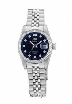 Orient Oyster President Diamond Accent NR16003D Ladies Blue Dial Made in Japan