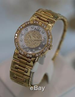 Piaget Ladies Dancer 18k Yellow Gold MOP Mother of Pearl with Diamonds 80564 K81