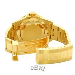 ROLEX 18K Yellow Gold 40mm Submariner Date Blue Dial 16618 Box Warranty 2001