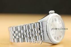 ROLEX MENS DATEJUST 18K WHITE GOLD & STEEL WATCH with ORIGINAL SILVER DIAL