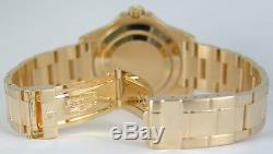 ROLEX Mens 40mm 18kt Yellow Gold YachtMaster White Index 16628 SANT BLANC
