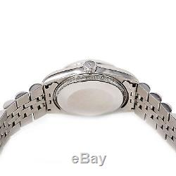 Rolex Datejust 68240 Womens Automatic Watch White Dial SS Jubilee Band 31mm
