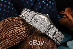 Rolex Datejust II 116300 Arabic Script Pave Diamond Dial Fully Iced Out 41mm SS