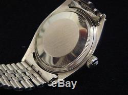 Rolex Datejust Men Stainless Steel 18K White Gold Watch Jubilee Silver Dial 1601