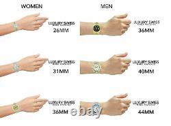 Rolex Datejust Mens 36mm Two-Tone White Dial Emerald Markers Rainbow Bezel