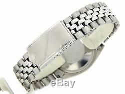 Rolex Datejust Mens Stainless Steel Watch with Silver Linen Dial Jubilee Band 1603