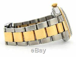 Rolex Datejust Mens Stainless Steel & Yellow Gold Watch Oyster White Dial 1601