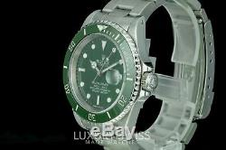 Rolex Men's Submariner Stainless Steel Black Dial Green Insert 40mm Pre-Owned