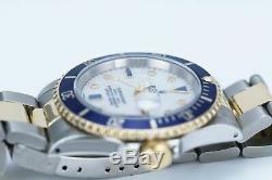 Rolex Men's Watch 40mm Submariner 16613 Two-Tone MOP with Diamonds and Sapphires