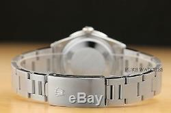 Rolex Mens 34mm Oyster Perpetual Date 18k White Gold Diamond Steel Watch