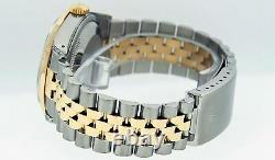 Rolex Mens Datejust Watch S-Steel 18K Yellow Gold MOP Diamond and Emerald Dial