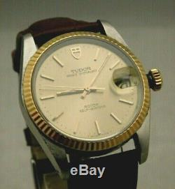 Rolex Tudor Prince OysterDate Vintage 90's SS & Gold Pre-Owned Mens Watch. 34mm