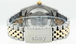Rolex Watch Mens Datejust S-Steel and 18K Yellow Gold MOP Diamond and Ruby Dial
