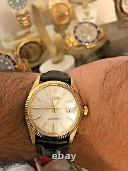 Vintage 1970 Rolex 14k Gold Date 1503 mint condition very collectable