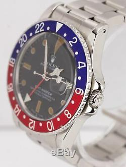 Vintage 1980 Rolex GMT-Master Pepsi Blue Red 16750 Matte 40mm Watch Box + Papers
